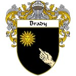 Brady Coat of Arms (Mantled)