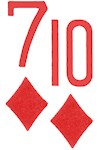 7d10d Suited Poker Hand
