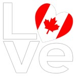 White Canadian LOVE