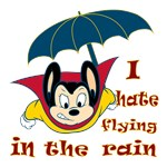Mighty Mouse Hates Flying in the Rain