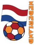 Nederland Flag and Soccer Ball