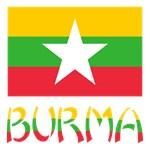 Burma Flag and Word