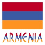Armenia Flag and Word