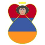 Armenian Flag Angel