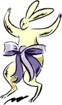 Bow Wrapped Easter Bunny T-shirts & Gifts