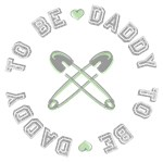 Daddy to Be Non Gender Specific Green T-shirts Gif