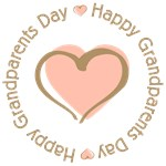 Happy Grandparent's Day Pink Heart T-shirts Gifts