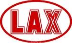 Lacrosse Lax Oval Scarlet