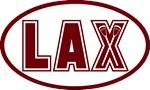 Lacrosse Lax Oval Garnet