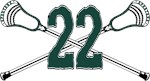 Lacrosse 22 Green and White Spartans