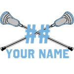 Personalized Crossed Lacrosse Sticks Colum