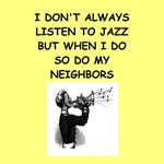 a funny jazz joke on gifts and t-shirts.