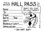 Mr. Fisch Hall Pass