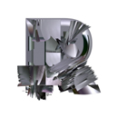 Heavy Metal initial letter R monogram