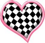 Checker's Heart Pink