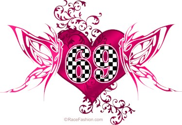 Checkered Numbers with Butterfly Design