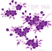 Sakura Cherry blossom I love yoga. dark