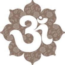 Om Lotus in brown gray