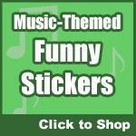 Funny Music Stickers