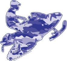 Camoflage Snowmobiler Design