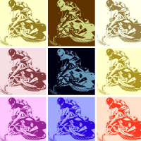 Snowmobile POP ART
