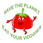 SAVE THE PLANET EAT YOUR VEGGIES