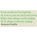 Ben Franklin Writing Advice