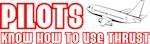 Pilots Use Thrust