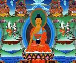 Colorful Buddha Thangka Painting