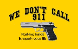 We don't call 911 Security Stickers