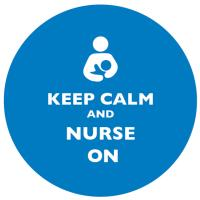 Keep Calm and Nurse On Bright Blue