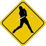 Baseball Crossing Sign