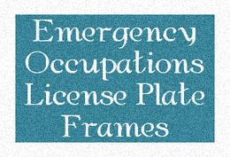 Emergency and Law Enforcement License Plate Frames