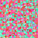 Pink Aqua Abstract Geometric