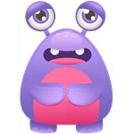 Cute Purple Monster Elephant Feet