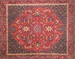 Red Persian Vintage Carpet