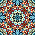 Red Blue Yellow Mandala