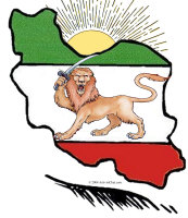 Map Of Iran and Angry Lion