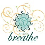 Get it Om. Breathe, Yoga Design, Soft Colors