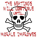 The beatings will continue until... Morale Improve