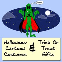 Halloween Cartoon Costume Tees|Trick Or Treat Bags