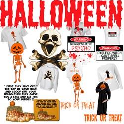 Scary Halloween Shirts-Evil Halloween merchandise
