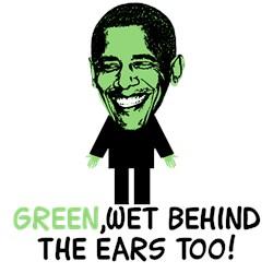 Obama's inexperienced,Obama's Green anti Obama Tee