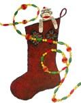 Christmas Stocking Sock Monkey