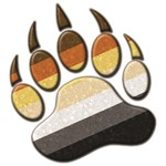 Bear Paw Symbol - Bear Pride Flag