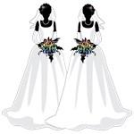 A-Line Dress Lesbian Brides