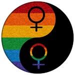 Lesbian Pride Yin and Yang