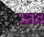 Abstract Demisexual Flag
