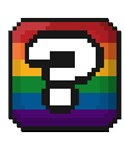 Pixel Rainbow Question Mark
