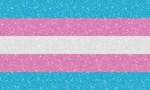 Glitter Transgender Pride Flag